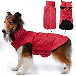 Imported Waterproof Pet Dog Waistcoat Jacket Fleece Lined Raincoat Clothes XX...-14018406MG