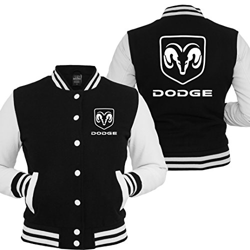 Collegejacke Dodge Ram Pickup Chevy Viper Charger Challenger V8 US Car Mustang (Schwarz, XL)