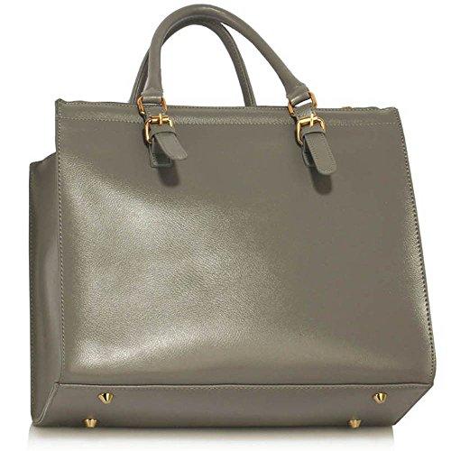 Trays for women (Braun) Haltegriffe Kunstleder Damenhandtaschen -Designer-Tasche Fronttasche AA - gray