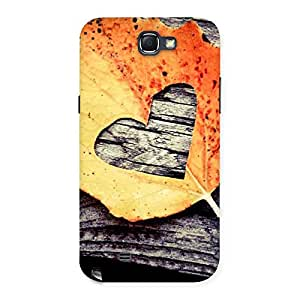 Delighted Leaf Heart Back Case Cover for Galaxy Note 2