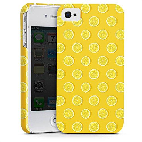 Apple iPhone X Silikon Hülle Case Schutzhülle Zitronen Sommer Früchte Premium Case glänzend