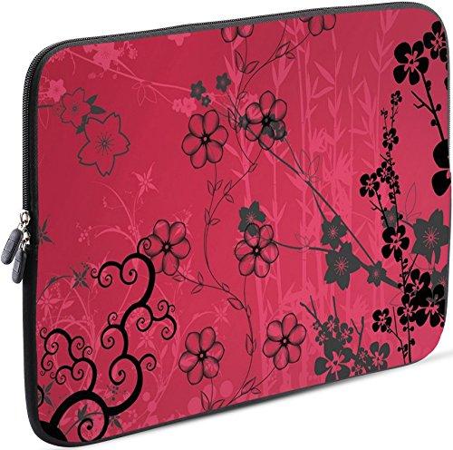Sidorenko Laptop Tasche für 17-17,3 Zoll | Universal Notebooktasche Schutzhülle | Laptoptasche aus Neopren, PC Computer Hülle Sleeve Case Etui, Rosa