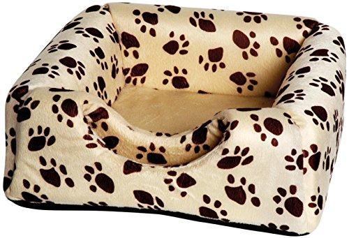 dobar 60170 Multi-Liegeplatz, Liegebett plus Kuschelhöhle in einem (ausfaltbar) für Katzen und kleine Hunde, 40 x 40 x 30 cm, beige - 2