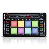 Reloop Neon – Add-On USB DJ Controller mit anschlagdynamischen RGB-Performance-Drumpads, Plug and Play mit Serato DJ, (schwarz)