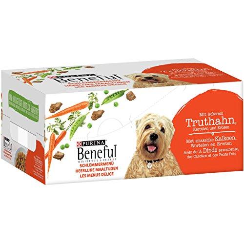 Beneful Schlemmermenü mit Truthahn, Karotten und Erbsen, 6er Pack (6 x 200 g)