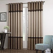 GWELL Luxus Elegant Vorhang Blickdicht Schal Mit Sen TOP QUALITT Gardine Fr Wohnzimmer Schlafzimmer Blau Rot