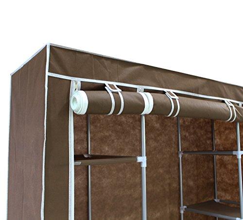 leogreen hochf en kleiderschrank stoff faltschrank stoffschrank stoffkleiderschrank. Black Bedroom Furniture Sets. Home Design Ideas