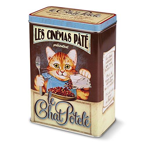 NATIVES Chat Potelé Boîte à Croquettes pour Chat