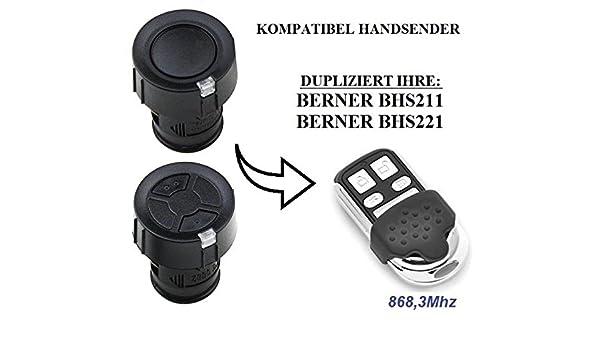4-kanal 868.3Mhz fixed code Berner BHS140 kompatibel handsender klone fernbedienung Top Qualit/ät Kopierger/ät!!! Berner BHS110