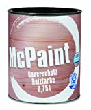 McPaint Dauerschutz Holzfarbe Tiefschwarz 0,75 Liter