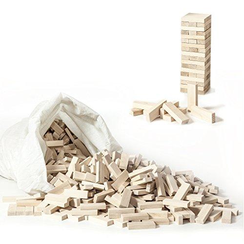 1000 HolzFee Bausteine Holzbausteine Holz Bauklötzer Spielzeug Holzsteine Buche natur Wackelturm Holzelemente
