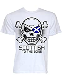 645d38eb3 Beat Tees Clothing Mens Funny Novelty Scottish to The Bone Scotland Flag  Logo Gifts T…
