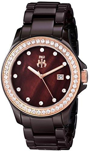 Jivago Women's JV9414 Ceramic Analog Display Quartz Brown Watch