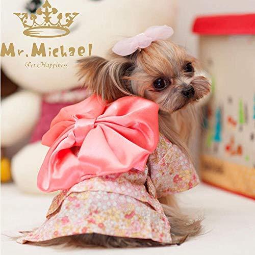 Vest Costume Hund Kleidung Haustier Kimono Katze Kostüm Teddy Kleiner Hund niedlichen Kleidern Vier Jahreszeiten Cute Large (Cute Kimono Kostüm)