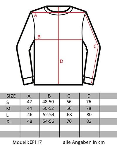 EightyFive Herren Sweatshirt Long Oversized Destroyed Longsleeve Shirt EF117 Khaki