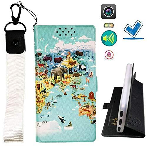 HYJPT Hulle fur Elephone P7000 Hülle Flip PU-Leder + Silikon Cover Case Fest DT