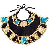 confettery–Cleopatra Cuello Bufanda antigüedad Disfraz de cabeza joyas joyas Orient Cleopatra dorado brillante, multicolor