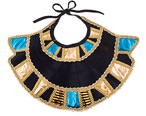 Zauberclown - Kleopatra Kragen Schal Antike Kostüm- Kopfschmuck Schmuck Orient Cleopatra goldglänzend, (Deutschen Offizier Hut Kostüm)