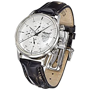 Ingersoll Columbia No. 1 IN2819CH - Reloj automático para hombre, color negro y plata de Ingersoll