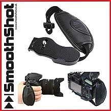 Cómodo de Piel para muñeca mano agarre correa para la muñeca universal para cámaras réflex digitales + cámaras réflex SLR Canon Nikon Sony cámaras videocámaras