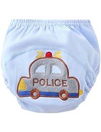 2 pantalones del pedazo de formación escritos muchachos de los bebés de la ropa interior de algodón resistente al agua de esfínteres