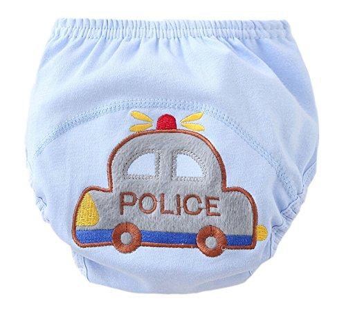 2 pezzo pantaloni mutande bambino biancheria intima di formazione Potty Training cotone impermeabile, Blu 90 centimetri - Blu Potty
