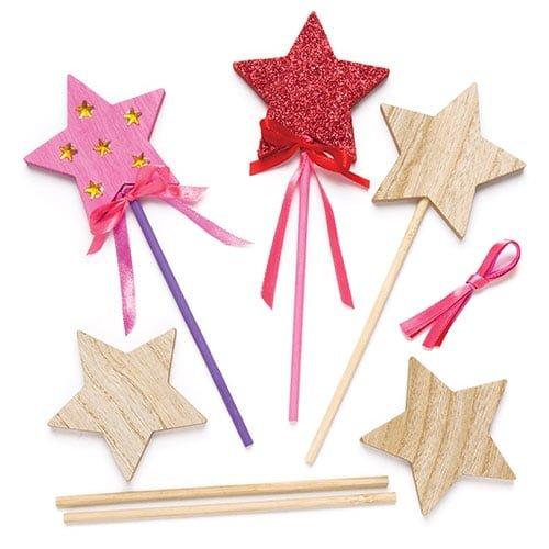 Baker Ross Varitas mágicas con Estrella de Madera...