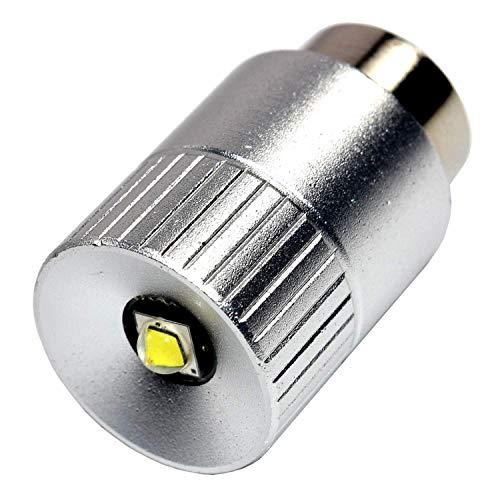 HQRP Ultrahelle 300Lm Hochleistungs-3W-LED-Umwandlungs-Birne für MagLite 2 D-Zelle Halogen/Mag-Lite 2D Xenon Taschenlampe Fackel / D30113730000 mit HQRP Untersetzer -