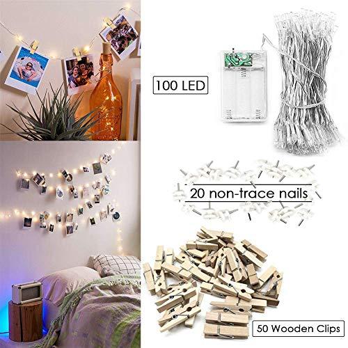 50 pezzi natale addobbi accessori wooden peg mollette in legno per foto carta absofine