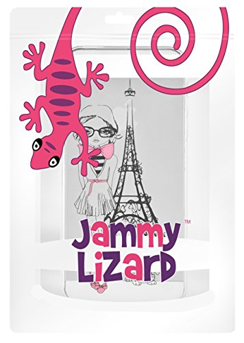 "iPhone 6 Hülle, JAMMYLIZARD Transparentes Sketch Back Cover aus Silikon mit Muster für iPhone 6 / 6s 4.7"", KRATZENDE KATZE Paris Girl"