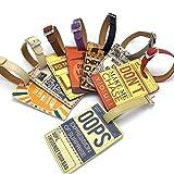 Fully 2x PU Leder Gepäck Schlüssel Anhänger Koffer Reisengepäck Adresse Name ID Tag Etikette Bezeichner Anti-lost (zufällig)