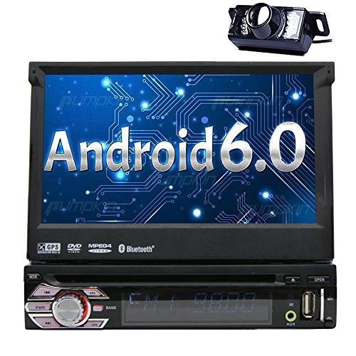 Eincar Android 6.0 Autoradio Einzel Din Head Unit 7 Zoll-Auto-Stereoanlage mit einstellbarem Betrachtungswinkel Suppport GPS Sat Navigation, Mirrorlink, DVD-CD-Player, Bluetooth, FM AM RDS, SWC, Wifi 3G 4G, USB SD, OBD, DAB, Subwoofer, RCA-Ausgang