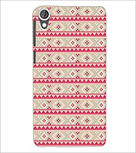 PrintDhaba Pattern D-5212 Back Case Cover for HTC DESIRE 820 (Multi-Coloured)