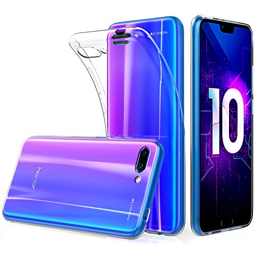 "Peakally Coque Huawei Honor 10, Ultra Fine TPU Silicone Transparent Souple Housse Etui Coque pour Huawei Honor 10 5.8"", Adhérence Parfaite/Anti Rayures/Anti-Scratch-Transparent"