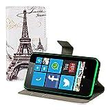 kwmobile Nokia Lumia 630 Hülle - Kunstleder Wallet Case für Nokia Lumia 630 mit Kartenfächern und Stand