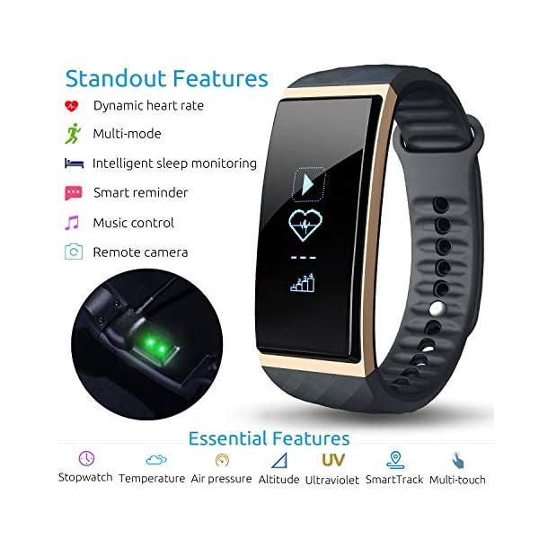 S1 CUBOT Smart tracker pulsera Bluetooth 4.0 impermeable pantalla táctil OLED podómetro rastreador inalámbrico actividad… 1
