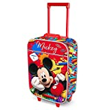 Karactermania Mickey Mouse Crayons-Soft 3D Trolley Suitcase Bagage Enfant, 52 cm, 23 liters, Rouge (Red)