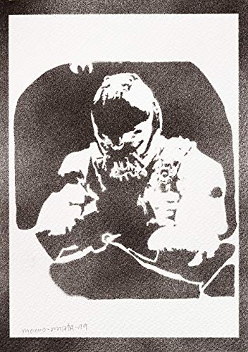 Comic Bane Kostüm - Bane Poster Plakat Handmade Graffiti Street Art - Artwork