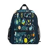 Kinderrucksack, Leichte Vorschule Tasche f¨¹r Kinder M?dchen Jungen, Space Alphabet Design Tasche