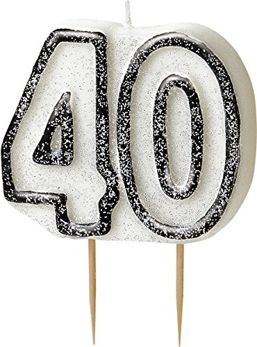 bling-party-decorations-and-tableware-for-40th-birthday-in-black-silver-glitz-40th-candle
