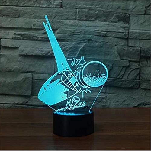 3D Acrylic Night Light 3D Led Bunte Gradient Atmosphäre Leuchte Kreative Kickoff Golf Ball Tischlampe Acryl Schlaf Nachtlicht Schlafzimmer Dekor