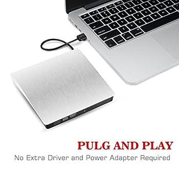 Usb 3.0 Externes Dvd Laufwerk Dvdcd Brenner Für Macbook, Macbook Pro, Macbook Air, Imac Os, Windows 7810vistaxp2003 (Weiß) 6