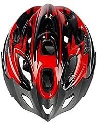 Casco da Ciclista Casco da Casco Casco da Equitazione Bicicletta da Montagna Accessori da Esterno per Biciclette Unisex,Red