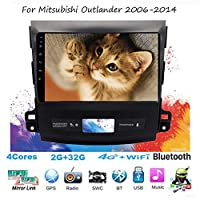 For Mitsubishi Outlander 2006-2014 Sat Nav Double Din Car Stereo Radio GPS Navigation 9 Inch Head Unit Multimedia Player Video Receiver Carplay DSP RDS OBD DAB