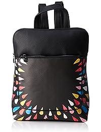 Desigual - Bols_tears Splatter Nanaimo, Bolsos mochila Mujer, Negro, 11x35.5x28 cm (B x H T)