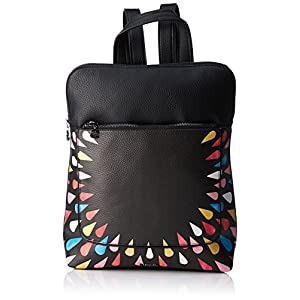 Desigual – Bols_tears Splatter Nanaimo, Bolsos mochila Mujer, Negro, 11×35.5×28 cm (B x H T)