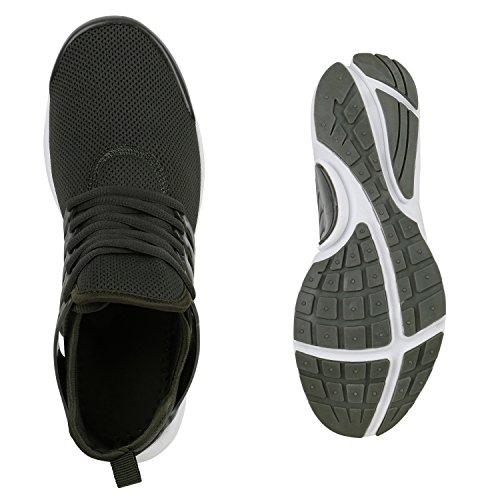 Damen Sportschuhe Runners Lack Metallic Laufschuhe Sneakers Dunkelgrün Brito