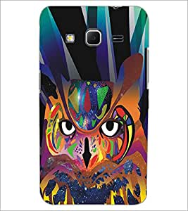 PRINTSWAG COLORFUL OWL Designer Back Cover Case for SAMSUNG GALAXY CORE PRIME