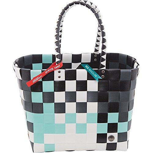 5010-48 ICE-BAG Shopper Klassiker Original Witzgall Taschen Einkaufstasche Einkaufskorb - grün, weiß, schwarz