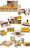 Rülke Holzspielzeug 23611 Puppenhauszubehör, holzfarben, gelb, rot